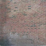 Brick powerwashing (after)