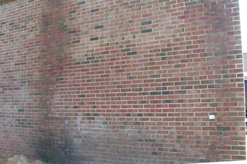 Brick powerwashing (after)