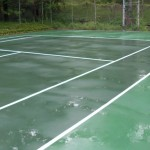 Tennis Court powerwashing (after)