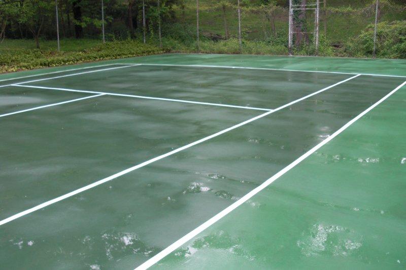 Tennis Court powerwashing (after)