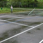 Tennis Court powerwashing (before)